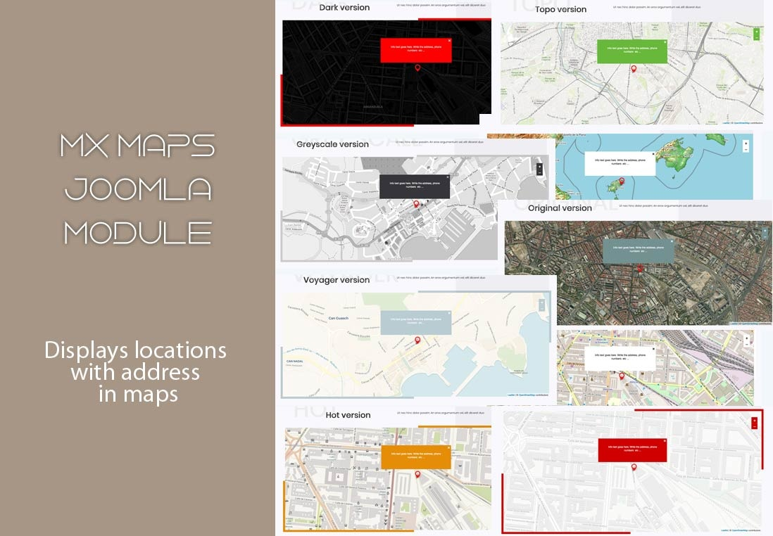 Joomla Extension: Mx Maps