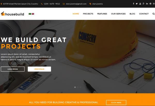 joomlastars Joomla Extension: Housebuild - Construction Joomla Template