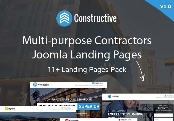 joomlastars Joomla Extension: Constructive - Contractors Multipurpose Joomla Landing Page Theme