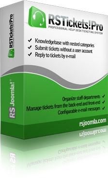 RSJoomla! Joomla Extension: RSTickets!Pro - Joomla!® HelpDesk Ticketing System