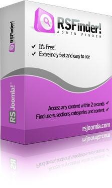 RSJoomla! Joomla Extension: RSFinder! - Free Joomla!® Finder and Administrator Search
