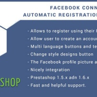 Modules PrestaShop: Facebook Connect for Prestashop, Login Button