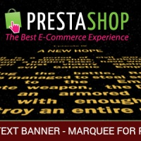 Modules PrestaShop: Scrolling Text or/and Images and Video Banner - Marquee