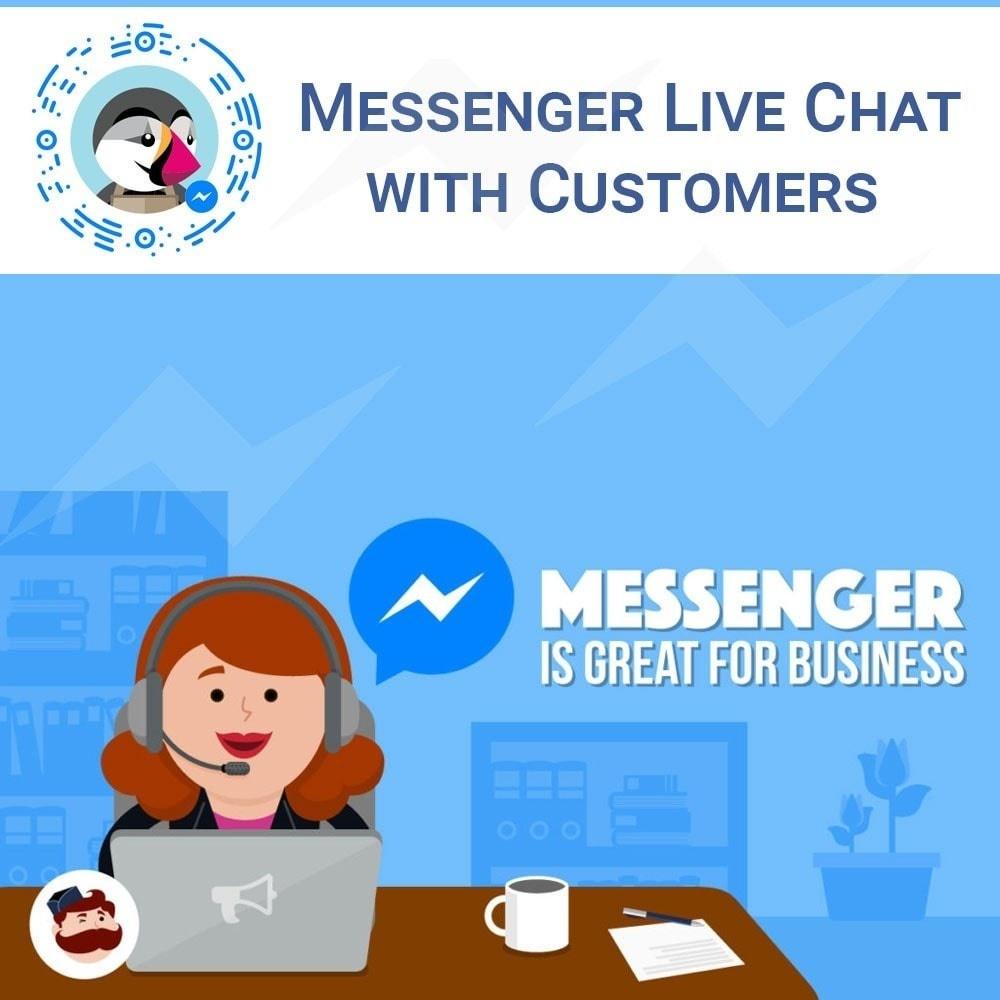 Webtet Prestashop Extension: Facebook Messenger Live Chat With Customers PrestaShop module