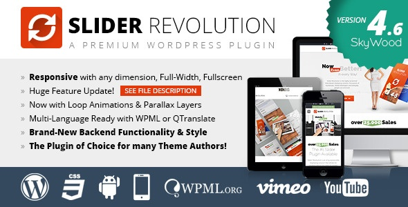 Webtet Wordpress Extension: Slider Revolution Responsive WordPress Plugin