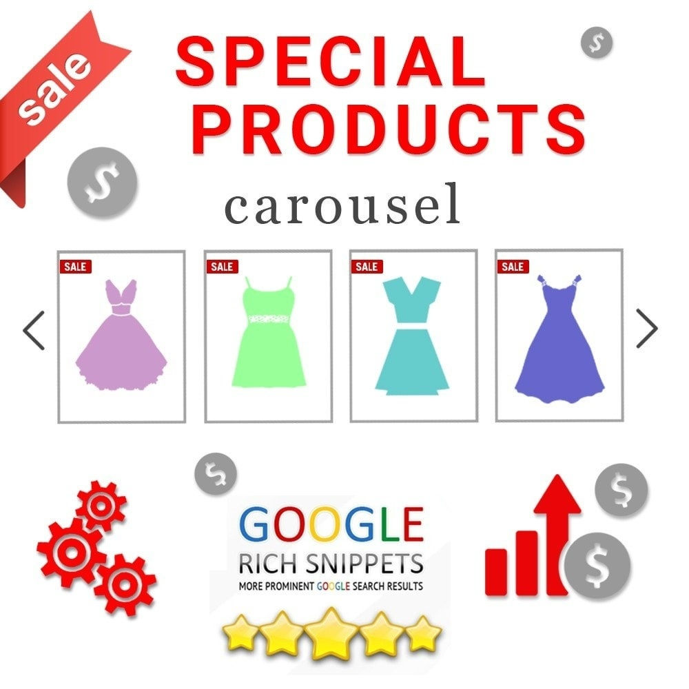 Webtet Prestashop Extension: Special Products Carousel for Prestashop with Google Rich Snippets Prestashop module