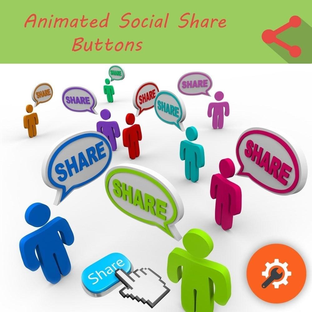 Webtet Prestashop Extension: Animated Social Share Buttons for Prestashop