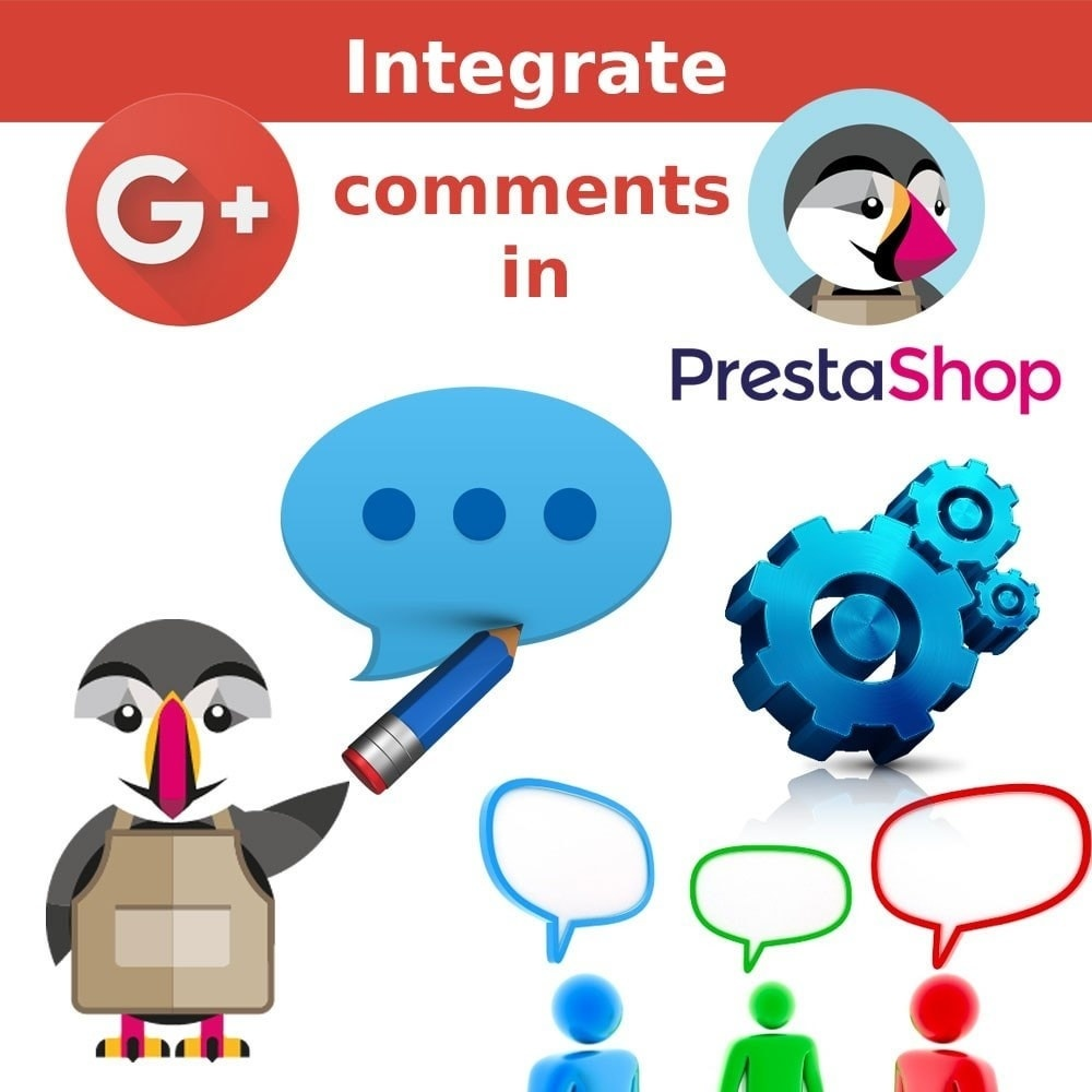 Webtet Prestashop Extension: Social Share Google Plus Comments.