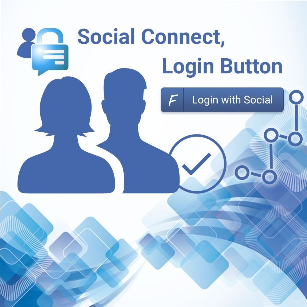 Webtet Prestashop Extension: Facebook connect. Login button. PrestaShop module