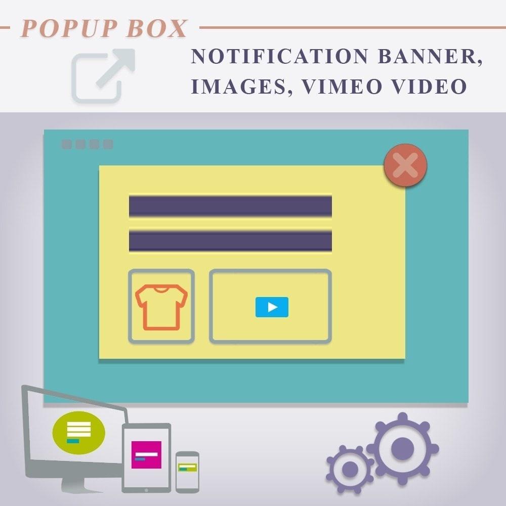 Webtet Prestashop Extension: Popup box Notification for Prestashop. Custom Text, Images, Video