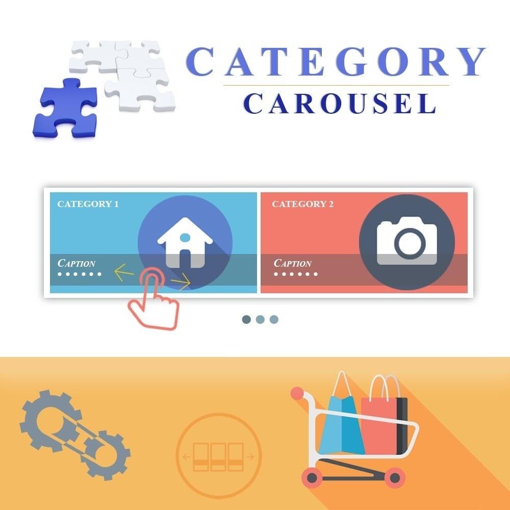 Webtet Prestashop Extension: Responsive Carousel with Categories for Prestashop (Images, Name, Description)