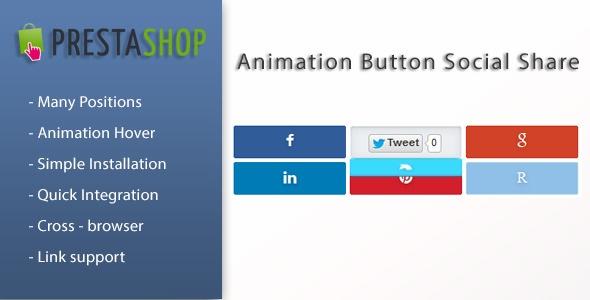 Webtet Prestashop Extension: Animation Social Button Share for Prestashop
