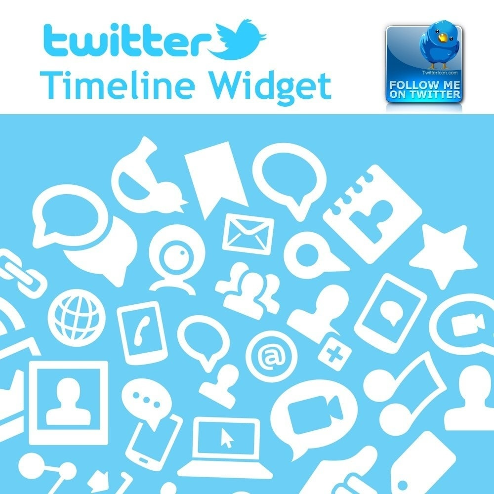 Webtet Prestashop Extension: Twitter Timeline Widget + Animated button