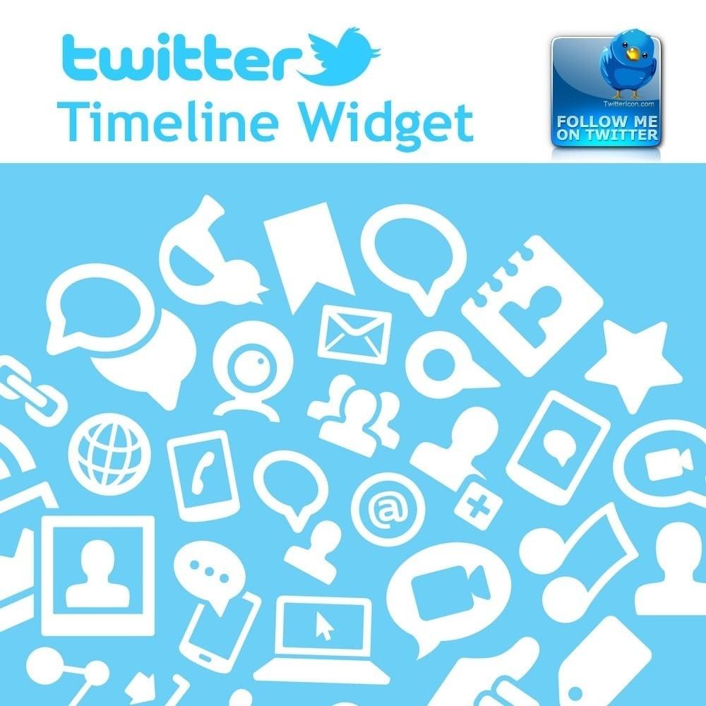 Webtet Prestashop Extension: Twitter Timeline Widget + Animated button