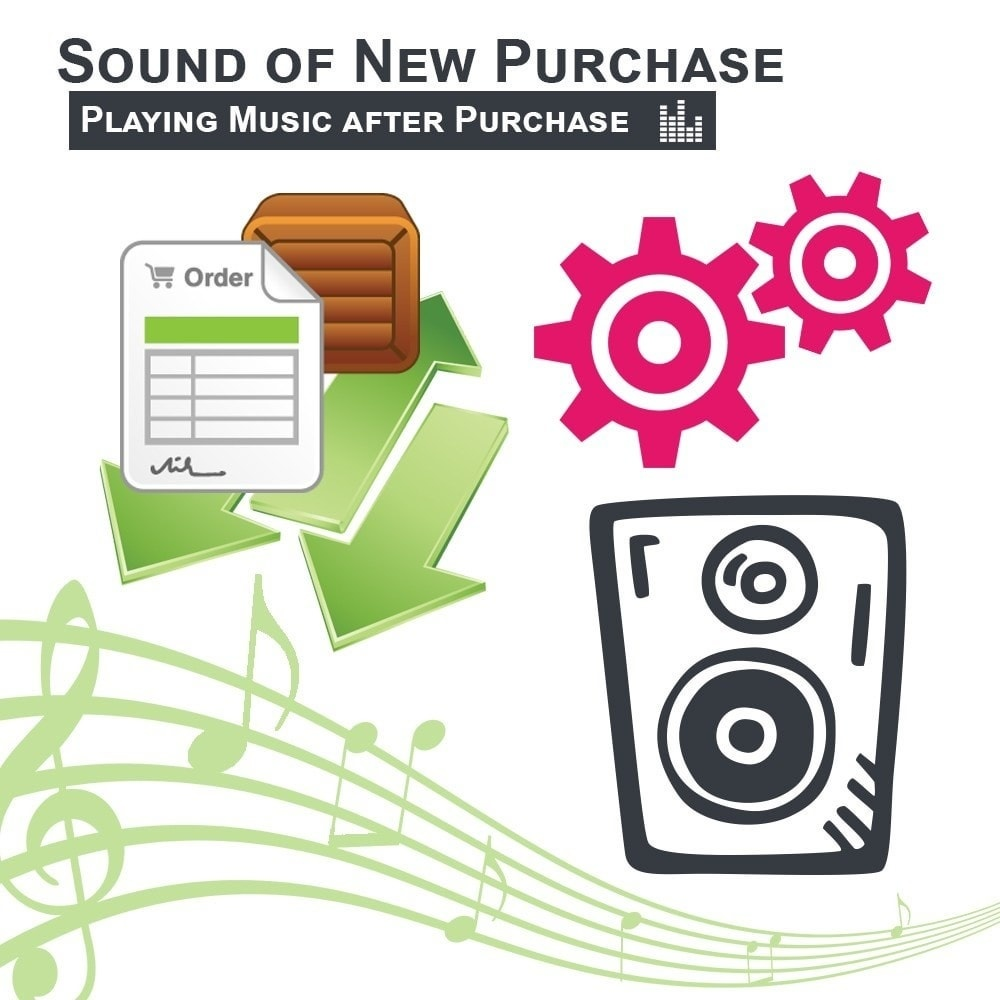 Webtet Prestashop Extension: Sound of New Purchase, Playing Music after Purchase for Prestashop 1.7 / 1.6 / 1.5