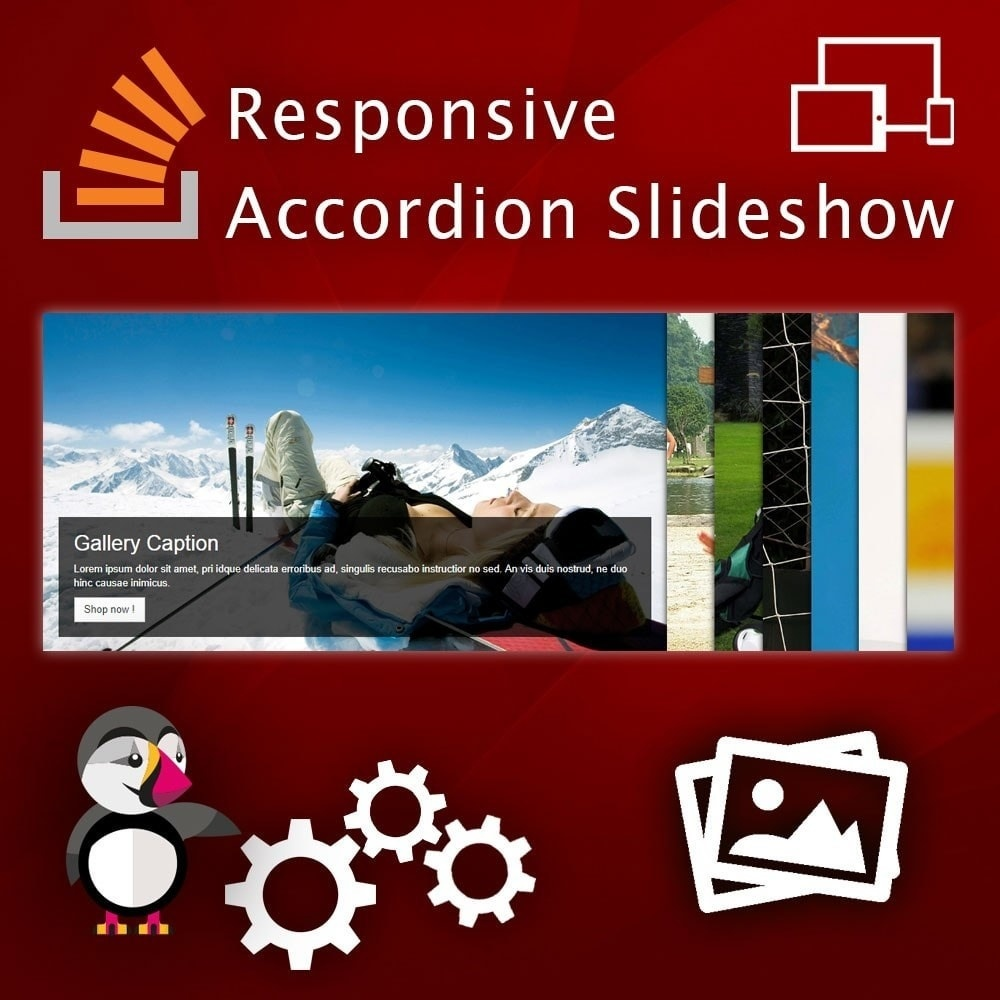 Webtet Prestashop Extension: Advanced Accordion Slider with Animation Caption. Module for Prestashop