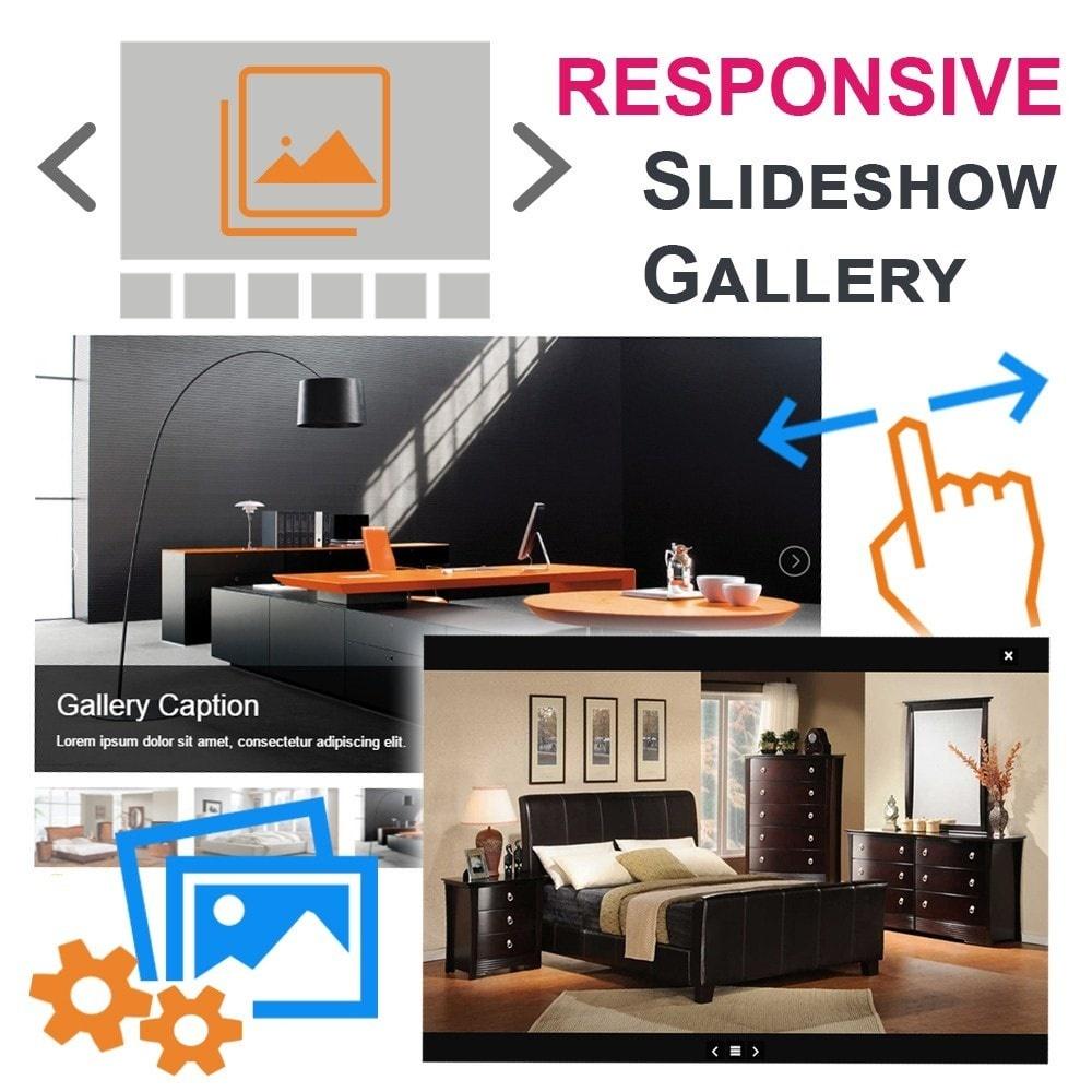 Webtet Prestashop Extension: Advanced Slideshow Gallery Images for PrestaShop. With Windows Effect