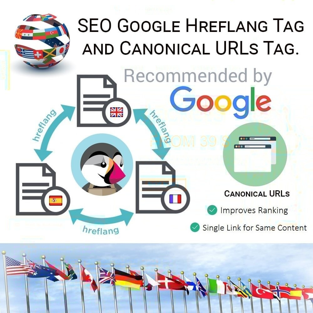 Webtet Prestashop Extension: SEO Google Hreflang Tag and Canonical URLs Tag Module