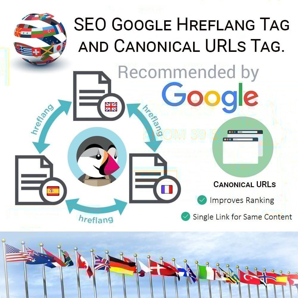 Webtet Prestashop Extension: SEO Google Hreflang Tag and Canonical URLs Tag