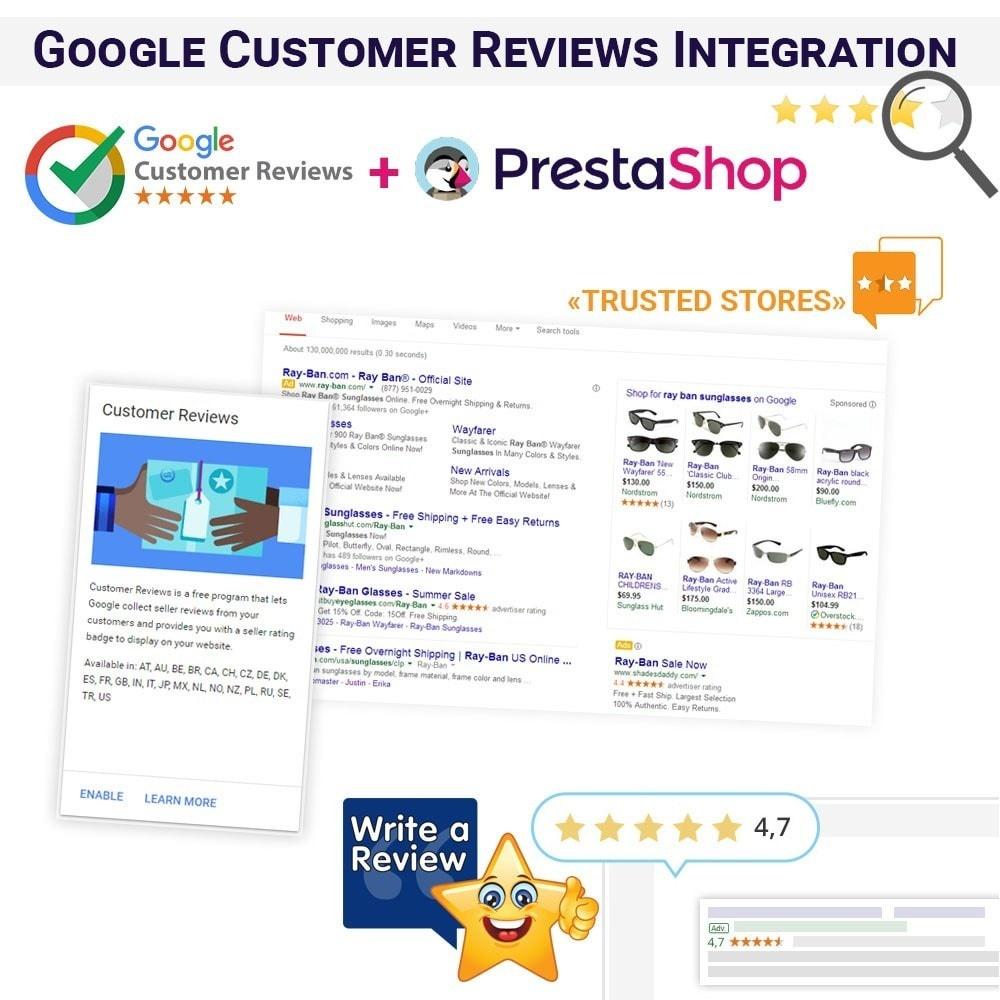 Webtet Prestashop Extension: Google Customer Reviews Integration Module for PrestaShop
