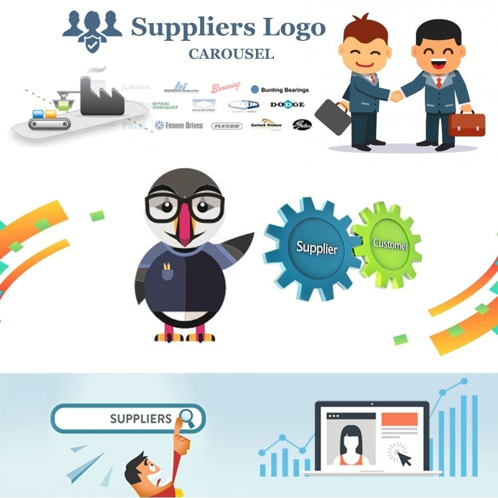 Webtet Prestashop Extension: Suppliers logo carousel Module for PrestaShop