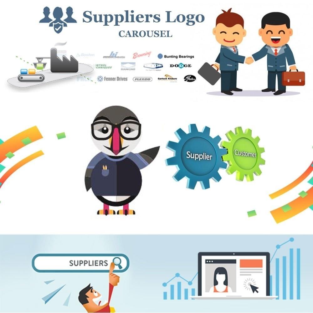 Webtet Prestashop Extension: Suppliers logo carouselModule