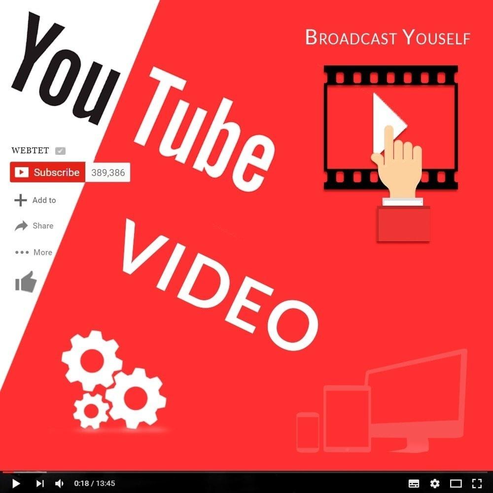 Webtet Prestashop Extension: Responsive Video Youtube Home, Column and Product Page for Prestashop 1.7 / 1.6 / 1.5