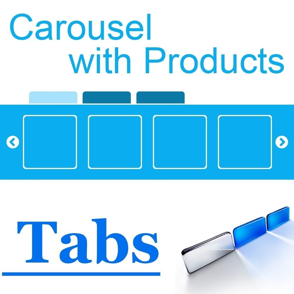 Webtet Prestashop Extension: Homepage Carousel with Products in Tabs