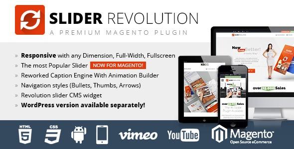 Webtet Magento Extension: Slider Revolution Responsive