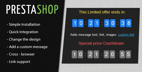 Webtet Prestashop Extension: Prestashop Countdown Discount Timer Module