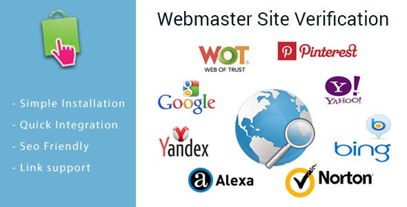 Webtet Prestashop Extension: Webmaster Site Verification Module for PrestaShop