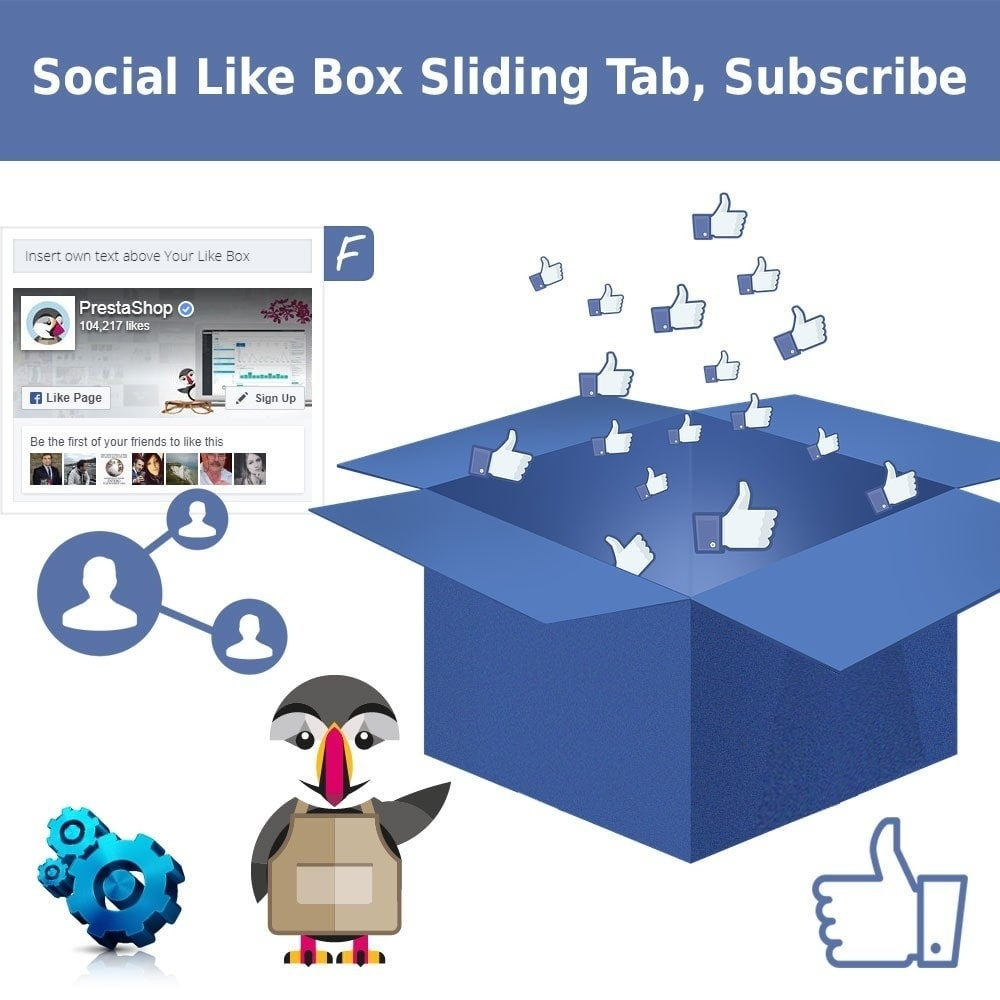 Webtet Prestashop Extension: Facebook Like Box, Sliding Tab Module for Prestashop