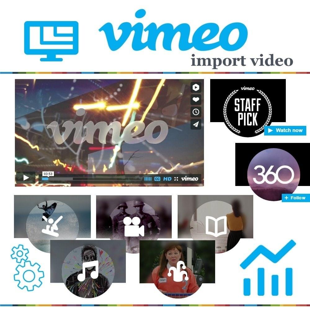 Webtet Prestashop Extension: Import Responsive Video from Vimeo to Prestashop 1.7 / 1.6 / 1.5