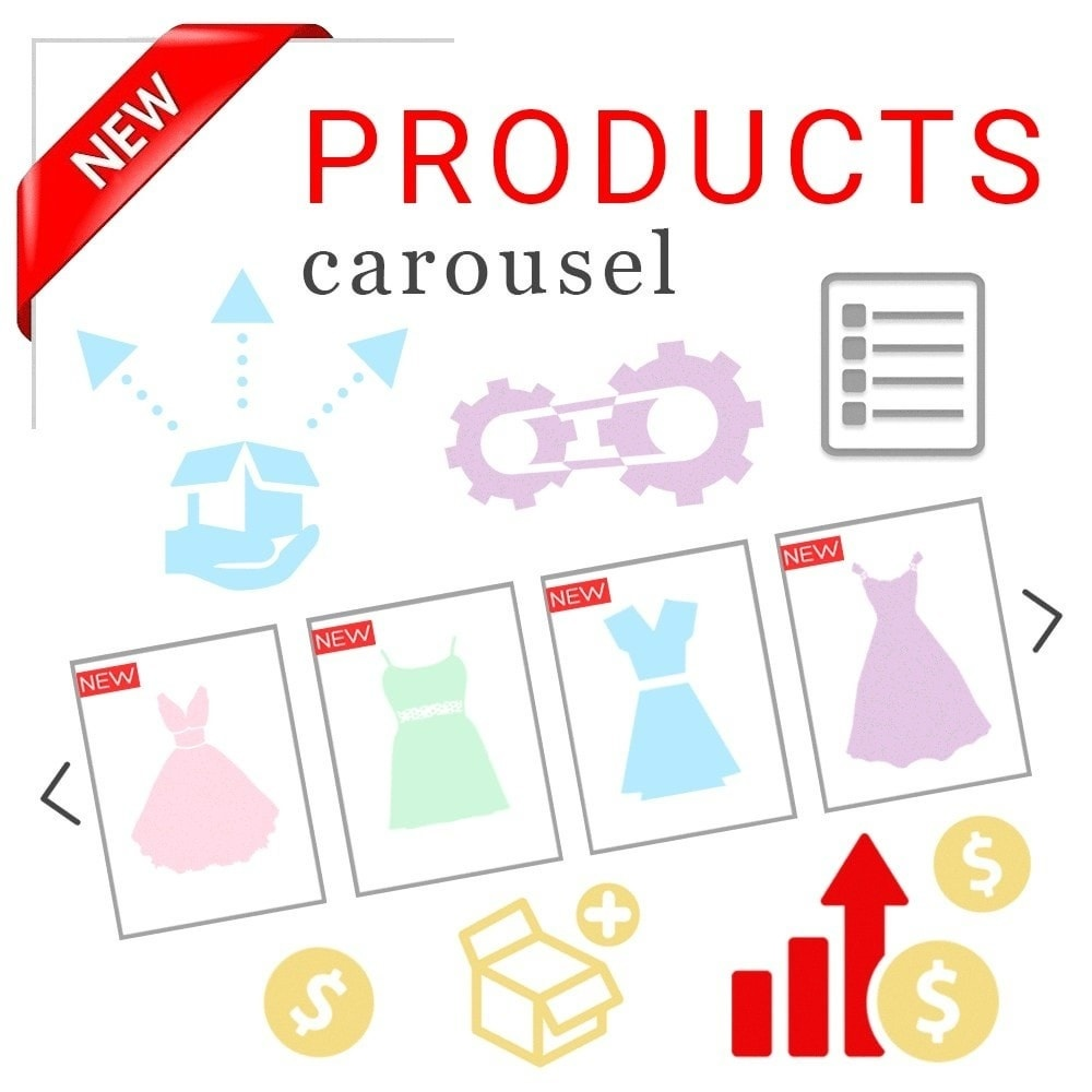 Webtet Prestashop Extension: Responsive Carousel with New Products for Prestashop