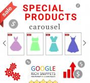 Prestashop extension Responsive Special Products Carousel for Prestashop with Google Rich Snippets