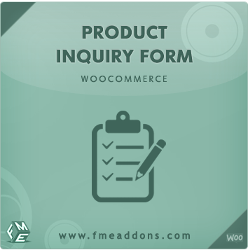 Wordpress Plugin: Woocommerce Product Enquiry Form Extension