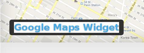 Wordpress Plugin: Google Maps Widget