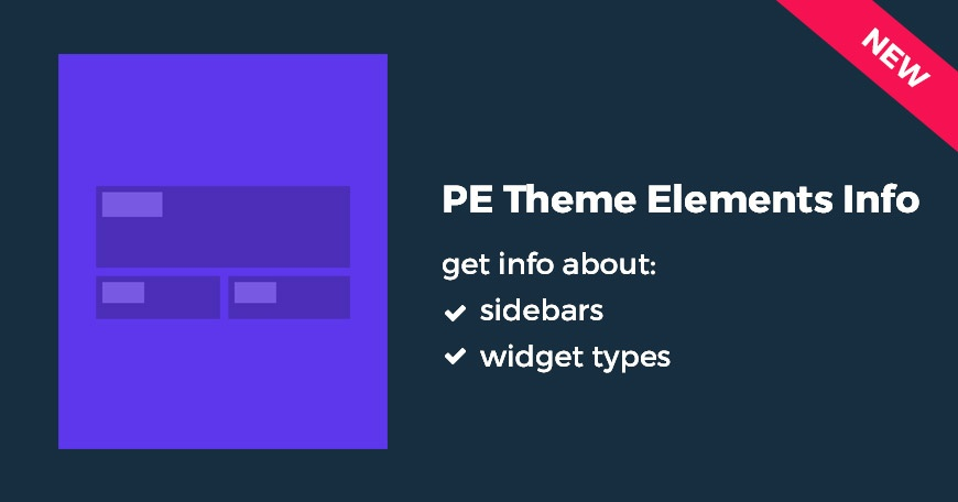 Wordpress Plugin: PE Theme Elements Info