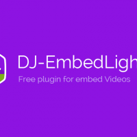 Joomla extension DJ-Embed Light