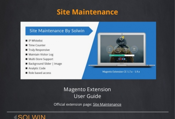 Troy Magento Extension: Site Maintenance