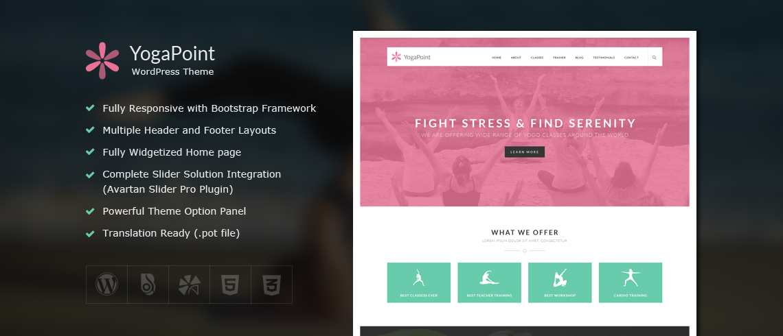 Solwin Infotech Wordpress Extension: YogaPoint – Yoga WordPress Theme
