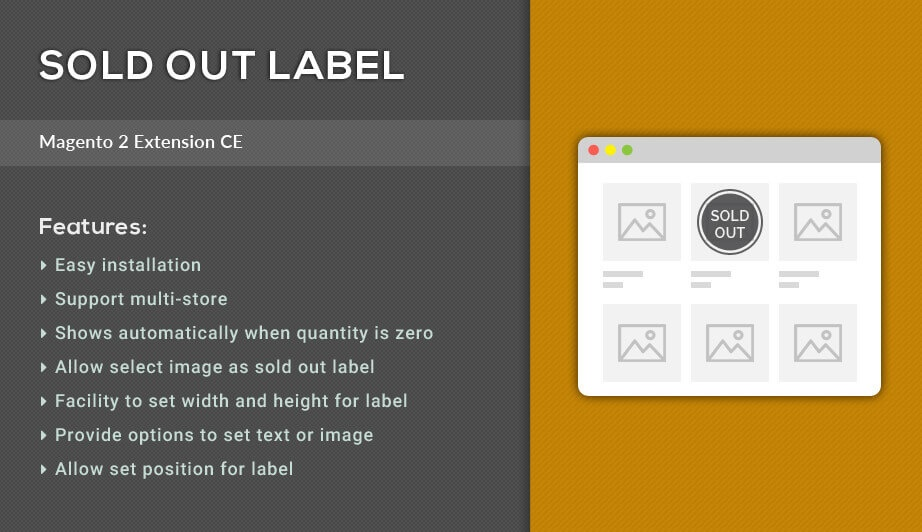 Solwin Infotech Magento Extension: Sold Out Label – Magento 2 Extension