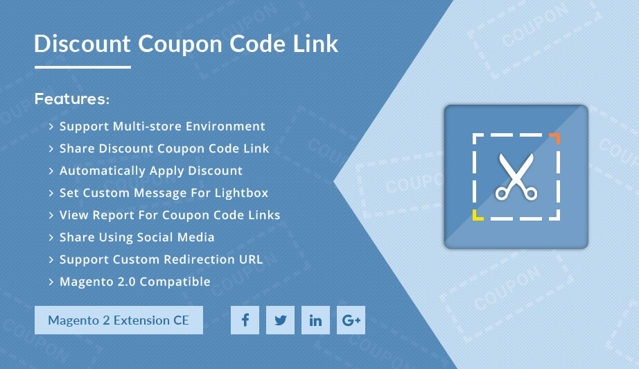 Solwin Infotech Magento Extension: Discount Coupon Code Link – Magento 2 Extension