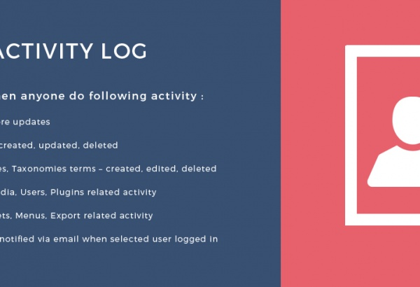 Wordpress Plugin: User Activity Log WordPress Plugin
