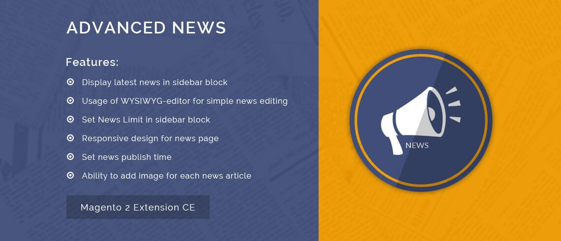 Solwin Infotech Magento Extension: Advanced News – Magento 2 Extension