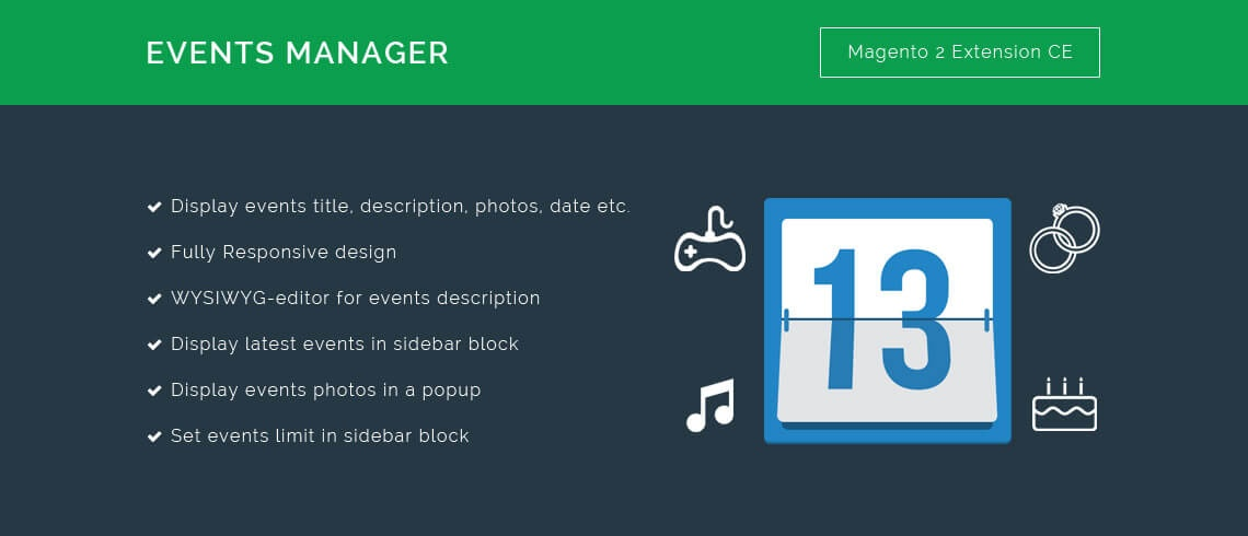 Solwin Infotech Magento Extension: Events Manager – Magento 2 Extension
