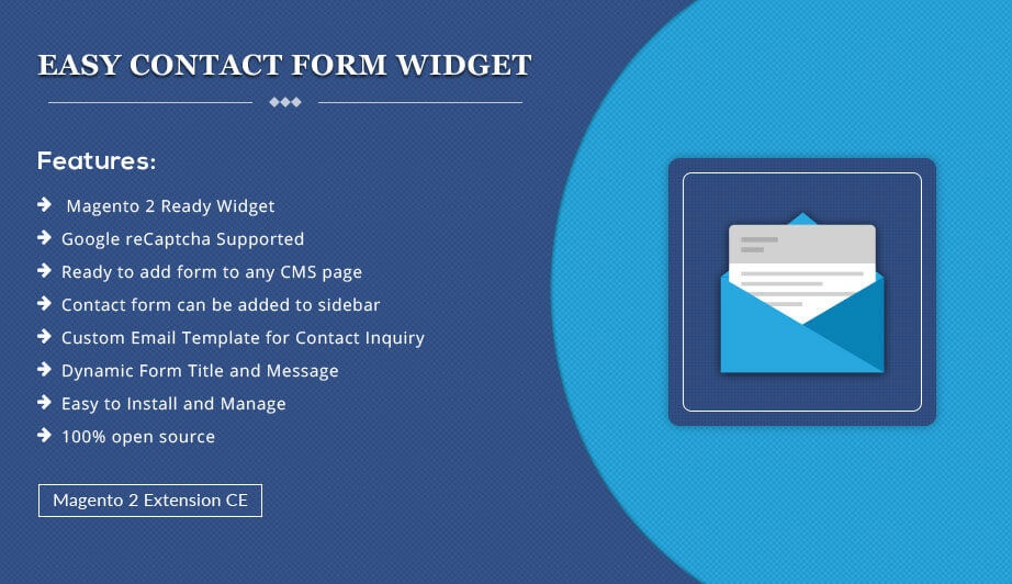 Solwin Infotech Magento Extension: Easy Contact Form Widget – Magento 2 Extension