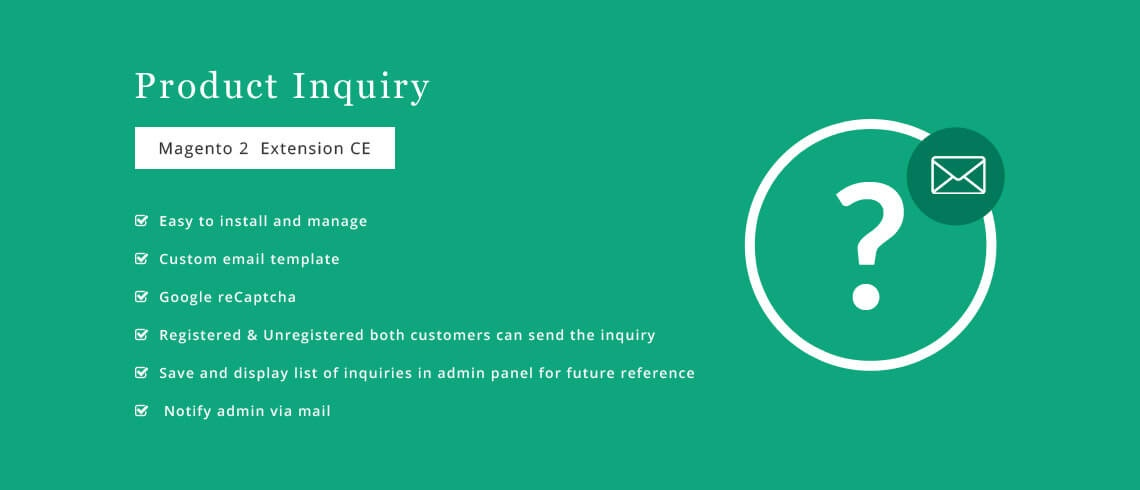Solwin Infotech Magento Extension: Product Inquiry – Magento 2 Extension