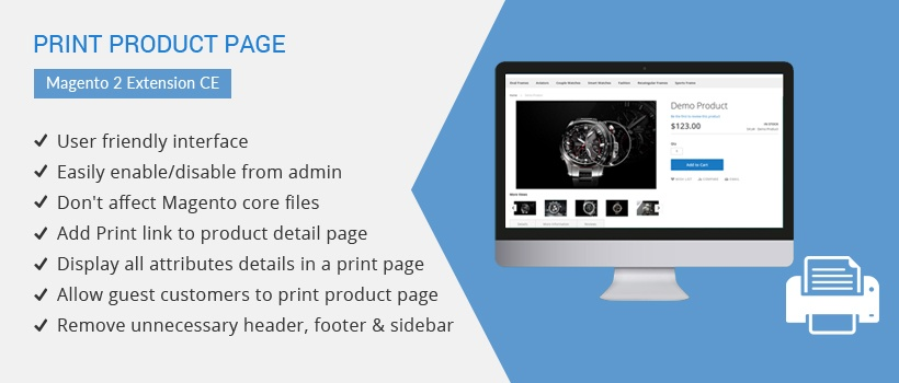 Solwin Infotech Magento Extension: Print Product Page – Magento 2 Extension