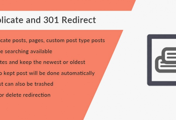 Solwin Infotech Wordpress Extension: Trash Duplicate and 301 Redirect WordPress Plugin
